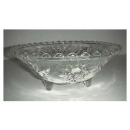 EAPC Anchor Hocking three toed glass  bowl #768