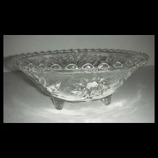 EAPC Anchor Hocking three toed glass  bowl #768