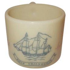 Old Spice glass Ship  Friendship   O2  mug