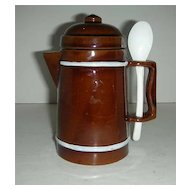 Little brown Norleans Japan Instant Coffee Container
