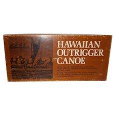 Vintage Hawaiian Outrigger canoe 1970 model kit
