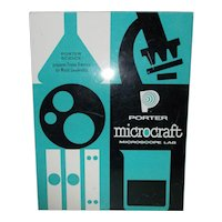 Child Microscope lab Porter Microcraft 1956