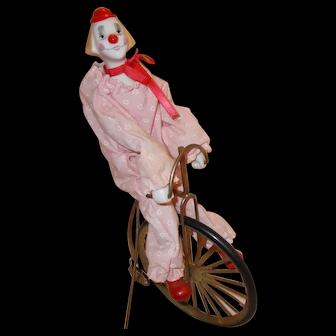 Enesco unicycle riding clown 1984 figurine