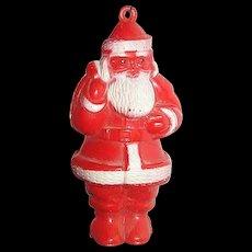 1950 Santa plastic celluloid  ornament