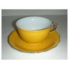 Gold Castle Japan cup and saucer