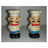 Moustache chef long lashed salt and pepper shakers