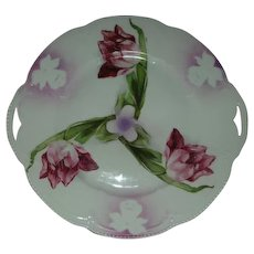 Bayreuth Transfer Tulip plate with iris stencil