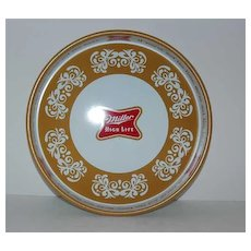 Gold Miller High Life Tray