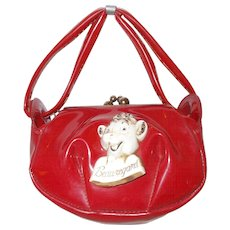 Borden's  Beauregard  red vinyl  child purse