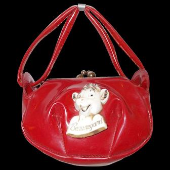 Borden's  Beauregard  red vinyl  child purse