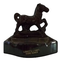 Loretta Lynn's Dude Ranch horse trinket ashtray dish