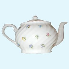 Arthur Wood  & Son Staffordshire  England flowered teapot  6395