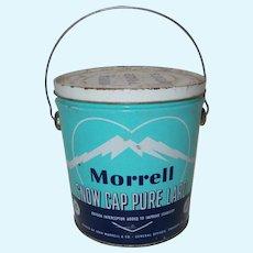 Morrell Snow Cap Pure Lard 1950  can handle w/   handle