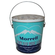Morrell Snow Cap Pure Lard 1950  can handle w/   handle