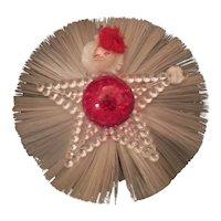 Fiber optic vintage  Santa decoration