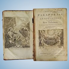 Two Books by Henry Hammond date 1673 & 1689 New Testament and the book of Psalms