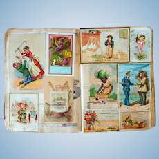 Victorian Trade Card Album 150 insertions  unmolested Fresh to the Market