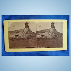 Civil War Charleston,S.C.George Cook Stereoview of Fort Sumter
