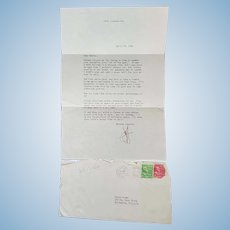 Actor Jeff Chandler Autograph 1954 TLS Letter to Personal Friend