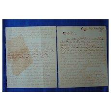1861 Clinton,Mississippi Alabama Civil War Letter GREAT CONTENT