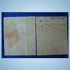 1861 Clinton,Mississippi Alabama Civil War Letter GREAT CONTENT