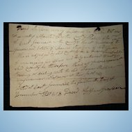 East Greenwich,Rhode Island Estate Contract December of 1818