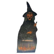 Old Department Store Halloween Witch stirring her Cauldron Display