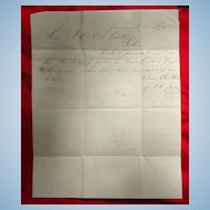 Sept.25 1842 Stampless Riverboat letter Savannah to Augusta Georgia