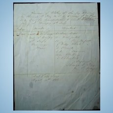 1846 Fort Polk,Texas Mexican-American War Document U.S.Grant