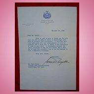 1966 Nelson Rockefeller Signed Letter TLS