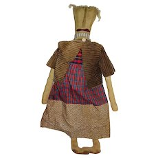 Primitive Goonie Folk Art Halloween Doll