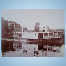 Photo of Steamer Boat Lafayette Pontoosuc Lake Pittsfield,Mass.