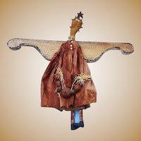 Folk Art Handmade Halloween Christmas Angel