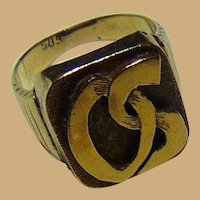 Celebrity custom made 23 kt. Gold Ring