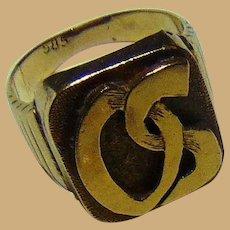Celebrity custom made 23 kt. Gold Ring