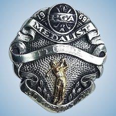 1969 PGA  Golf Sterling Silver & Gold Award Medal Albert Kelly,Jr.