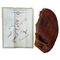 Frank McCormick 1940 Cincinnati Reds M.V.P. Goldsmith Glove with Artwork