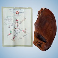 Frank McCormick 1940 Cincinnati Reds M.V.P. Goldsmith Glove with Artwork