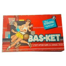 1955 Bas-Ket Basketball Game Cadaco Ellis Sports Classic