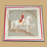 Hand Embroidered Handkerchief Alois Podhajsky, Director of the Spanish Riding School