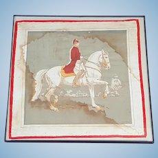 Hand Embroidered Handkerchief Alois Podhajsky, Director of the Spanish Riding School