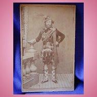 Scarce CDV of Maine Civil War Soldier 1st Maine Scottish Battalion