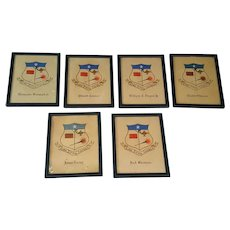 Framed Antique Fraternity Shingles President Woodward Wilson and others