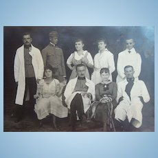 Wild & Crazy German WW1 Military Family Postcard