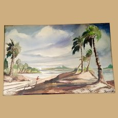 Matanzas Inlet  St. Augustine Painting by Florida Artist Florence Seymour