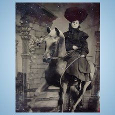 Tintype photo of Annie Oakley