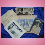 Early 1901 Women's Nursing Collection Cap,Photos,Diploma