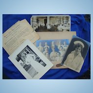Early 1901 Women's Nursing Collection Cap,Photos,Diploma