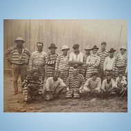 1915 Bradford County,Florida Baseball Prison Team Photograph