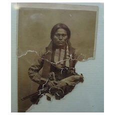 Civil War Carte deVistie CDV Photo of Armed Chiricahua Apache Warrior